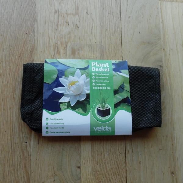 Finely-woven plant basket 18x18cm